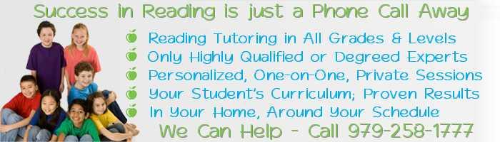 Brazoria County Reading Tutors and Reading Tutoring in Lake Jackson, Angleton, Rosharon, Learn to Read in Brazoria County, TX