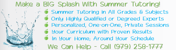 Brazoria County Summer Tutoring and Summer Tutors | Educational Summer Camp Alternative | Learning over Summer